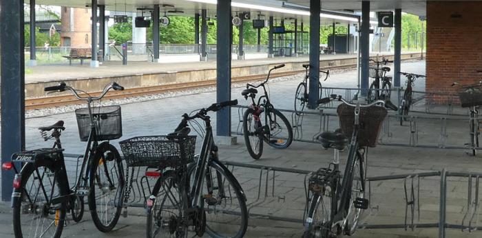 Cykelparkering uden sikring mod tyveri