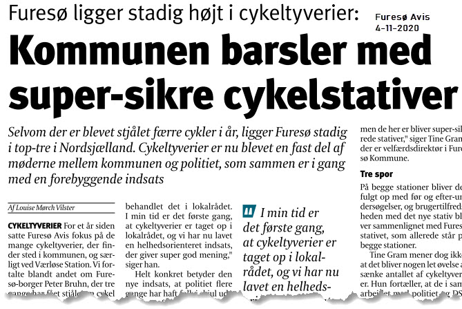 Kommune barsler med super-sikre cykelstativer