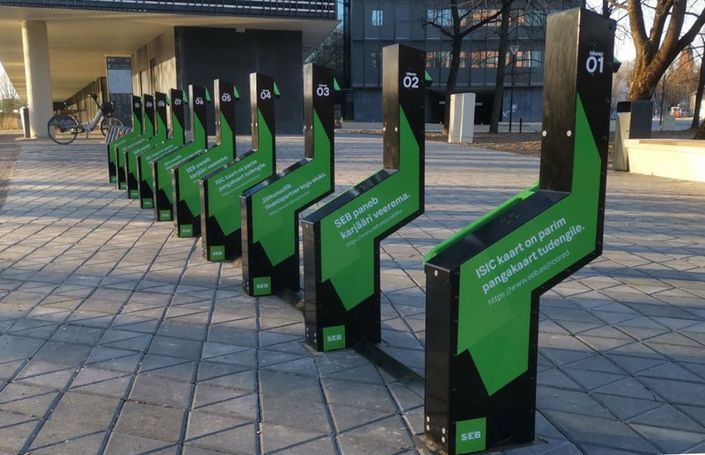 Elcykel parkering med opladning