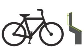 Cyklist ankommer til Bikeep