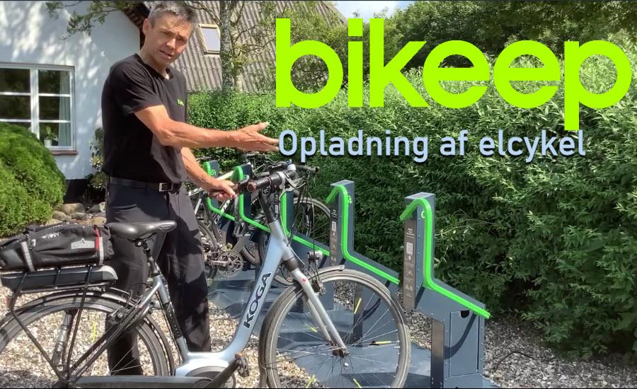 Demo af cykelparkering med mulighed for opladning af elcykel